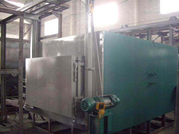 箱式退火炉结构:结构采用全纤维硅酸铝甩丝毯制